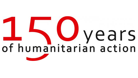 Red Cross logo to commemorate the 150th anniversary